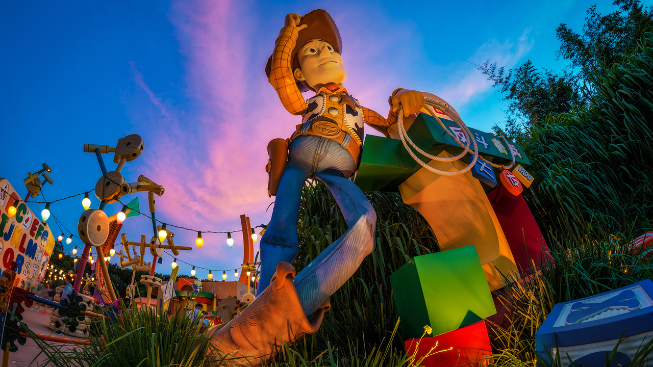 Disney Parks After Dark: Dusk in Toy Story Land at Hong Kong Disneyland