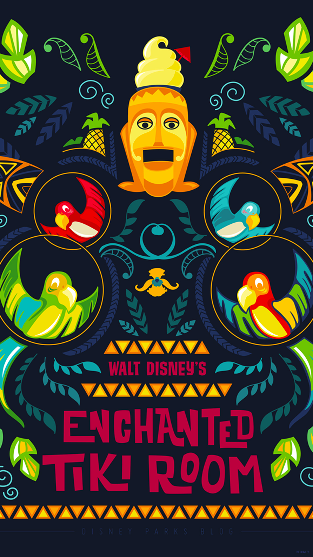 45th Anniversary Wallpaper Walt Disney S Enchanted Tiki