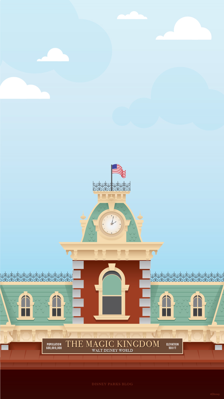 45th Anniversary Wallpaper Walt Disney World Railroad Train Station Mobile