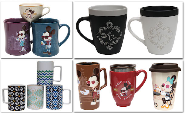 Enjoy National Coffee Day 2016 with a Preview of New Mugs Coming Soon to Disney Parks