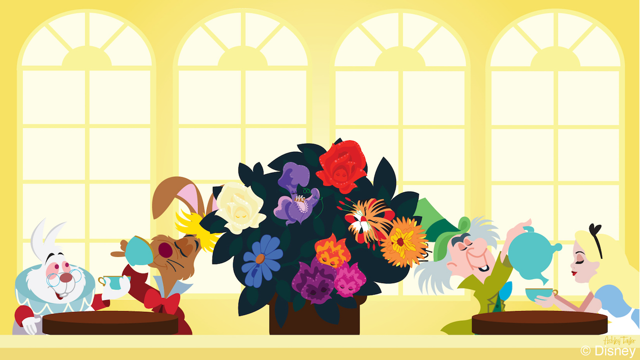Disney Doodle: Alice Hosts a Tea Party at Disney's Grand Floridian Resort & Spa