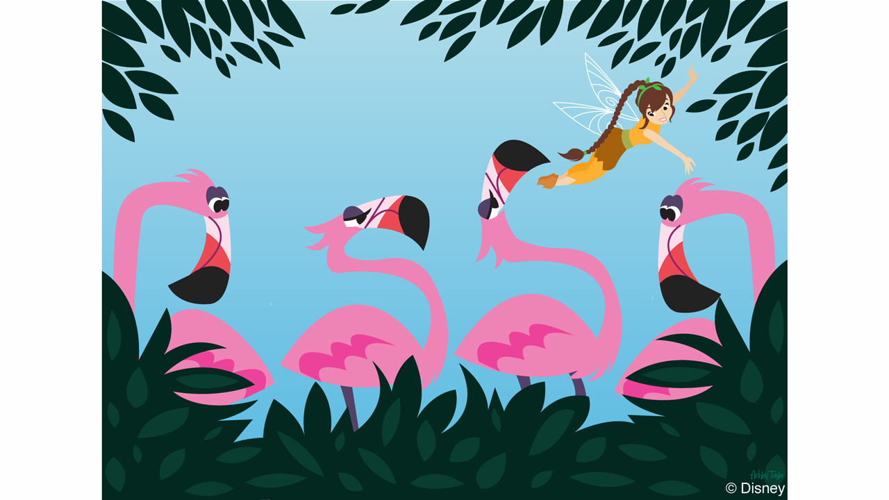 Disney Doodle: Tinker Bell's Friend Fawn Visits Disney's Animal Kingdom
