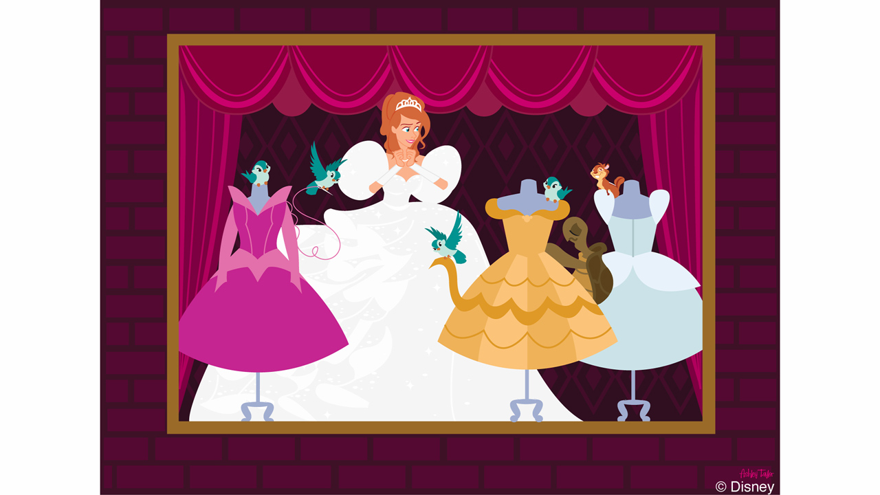 Disney Doodle: Giselle Has An Enchanting Visit to Magic Kingdom Park