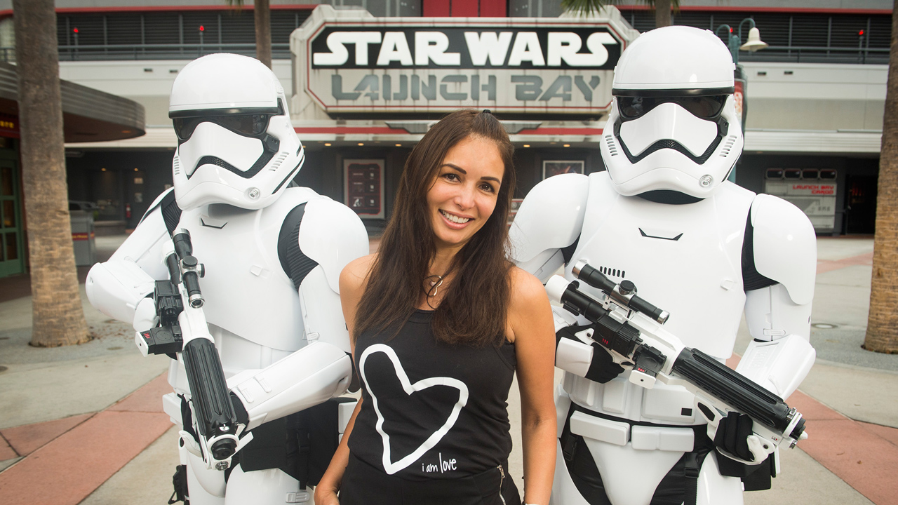 Giselle Blondet with Storm Troopers at Disney's Hollywood Studios