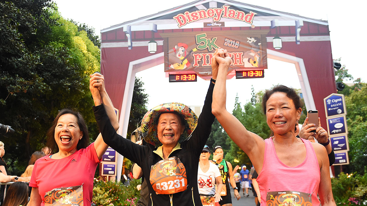 At Nearly 90 Years Old, Ellen Lem Finishes Disneyland 5K During Disneyland Half Marathon Weekend
