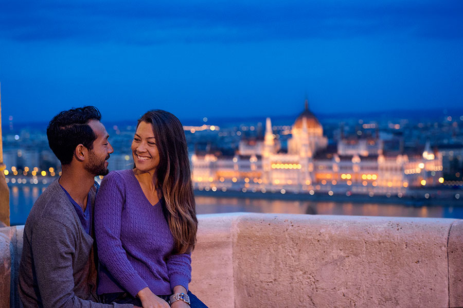 Couple in Budapest, Hungary