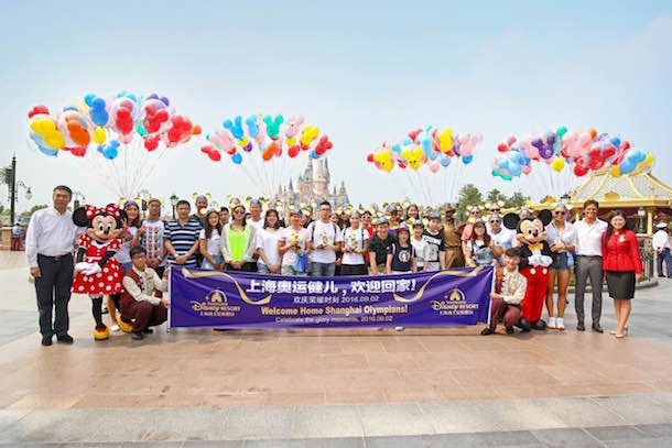Olympians Celebrate at Shanghai Disneyland