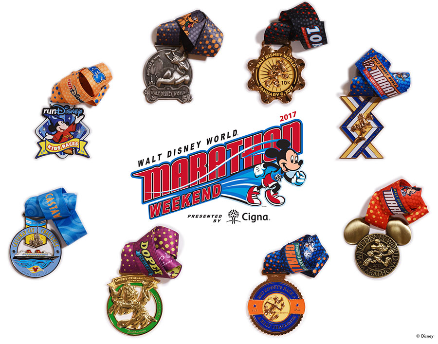 Sneak A Peek at the Walt Disney World Marathon Weekend Medals