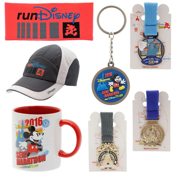 Merchandise for Inaugural Disneyland Paris – Val d'Europe Half Marathon Weekend