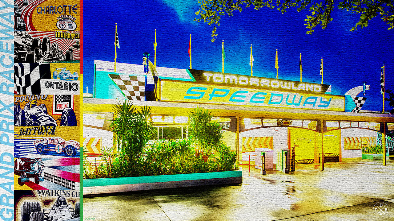 45th Anniversary Wallpaper: Tomorrowland Speedway - Desktop