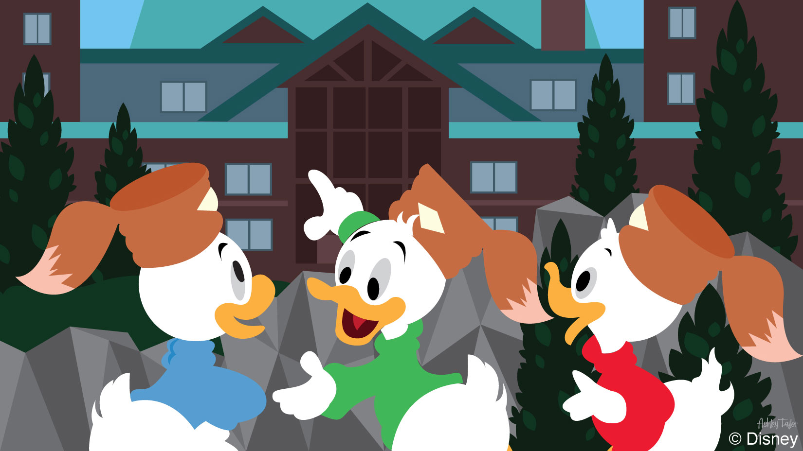 Disney Doodles: Huey, Dewey & Louie Head to Disney's Wilderness Lodge