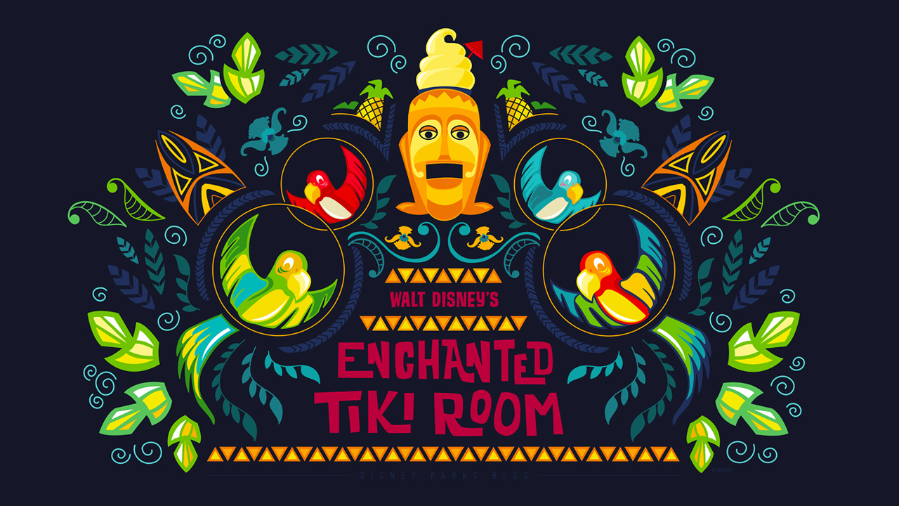 45th Anniversary Wallpaper: Enchanted Tiki Room
