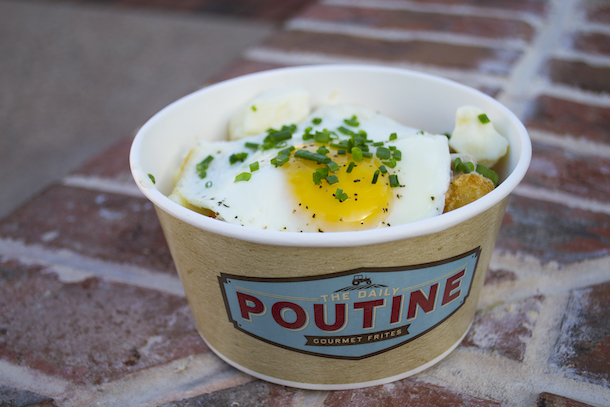 Breakfast-inspired Poutine from The Daily Poutine in the Town Center neighborhood of Disney Springs