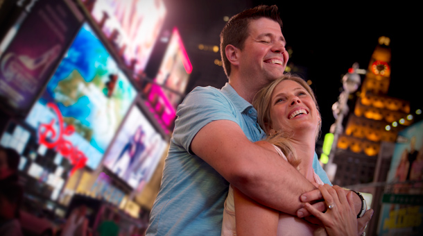 Adventures by Disney Long Weekend: Couple enjoying New York at night