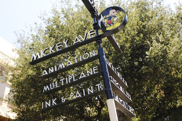The Walt Disney Studios Street Sign