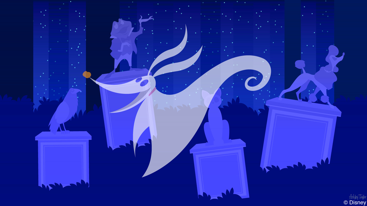 Disney Doodles: Zero Visits The Haunted Mansion's Pet Cemetery