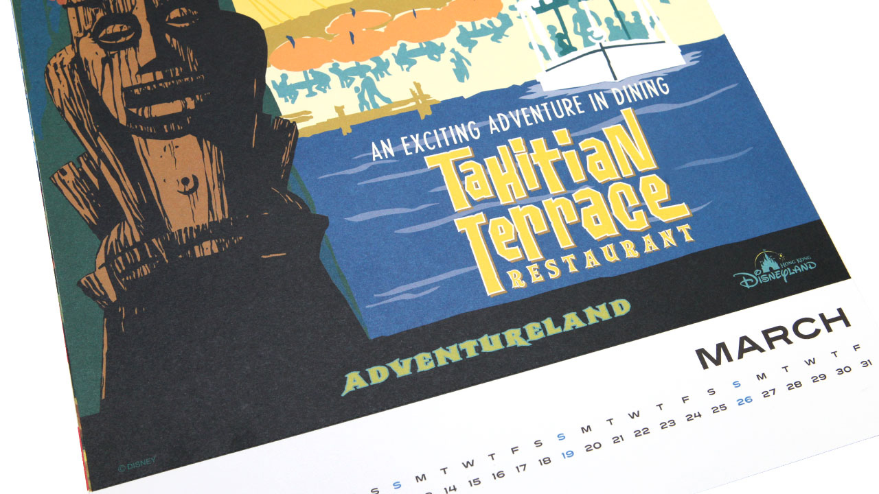 Popular Disney Parks and Resorts Attraction Poster Calendar Returns for 2017