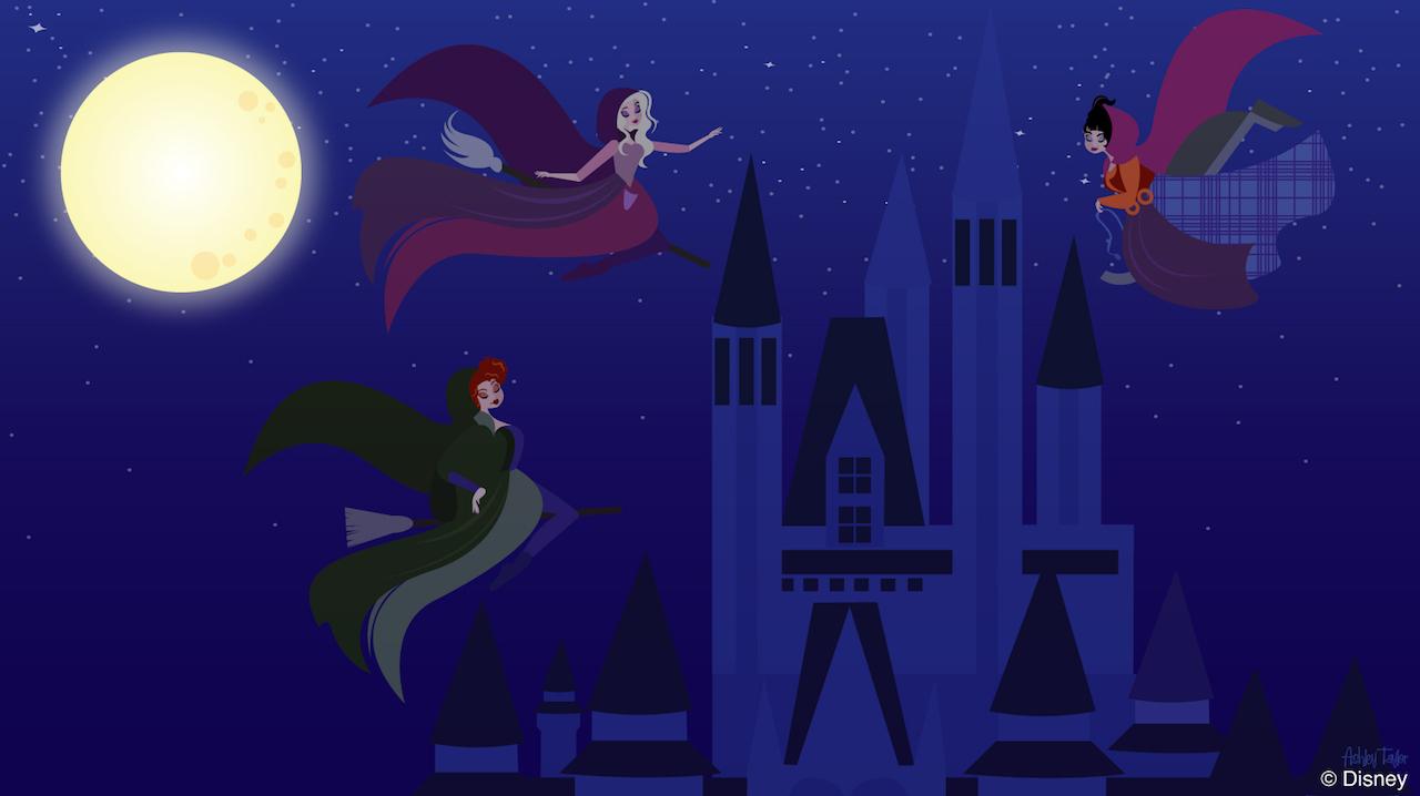 Disney Doodle: The Sanderson Sisters Take Flight