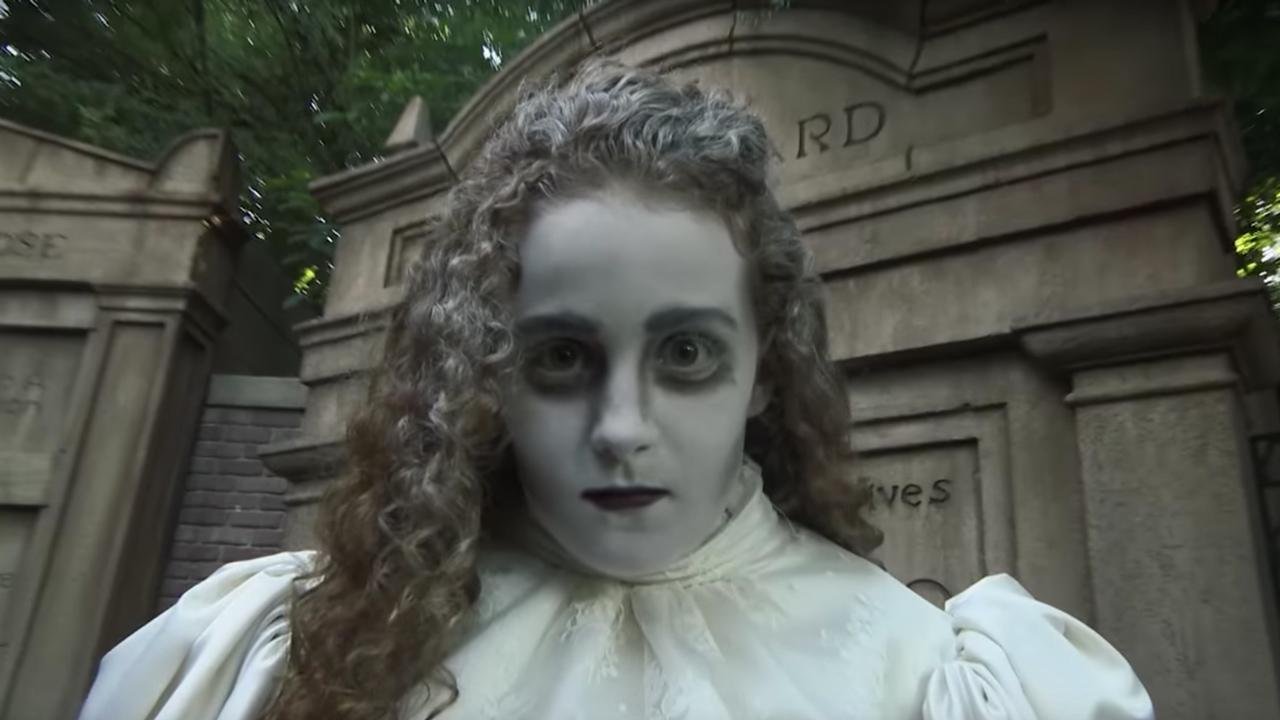 Halloween DIY: Haunted Mansion \'Ghost Bride\' Makeup Tutorial for ...