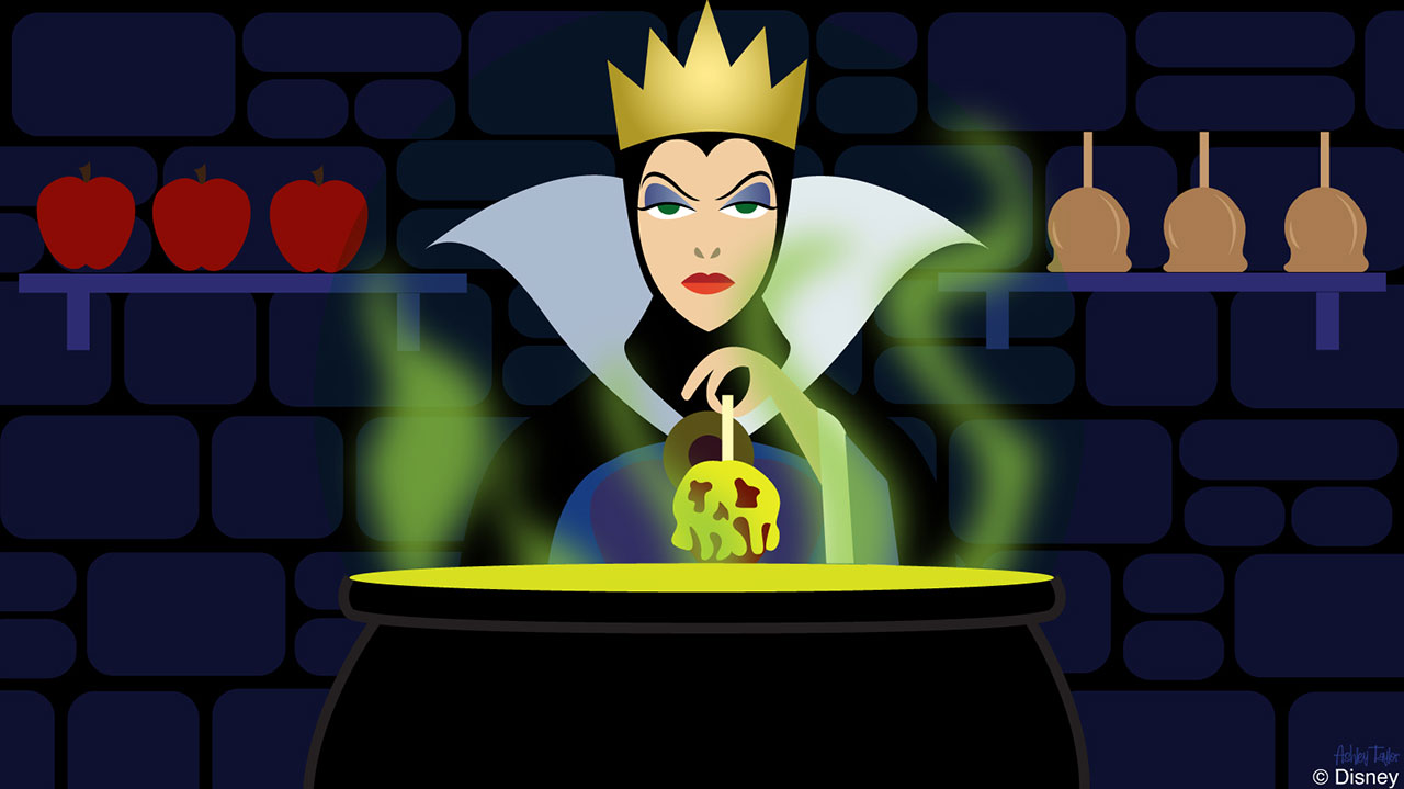 Disney Doodle The Evil Queen From Snow White Takes Over