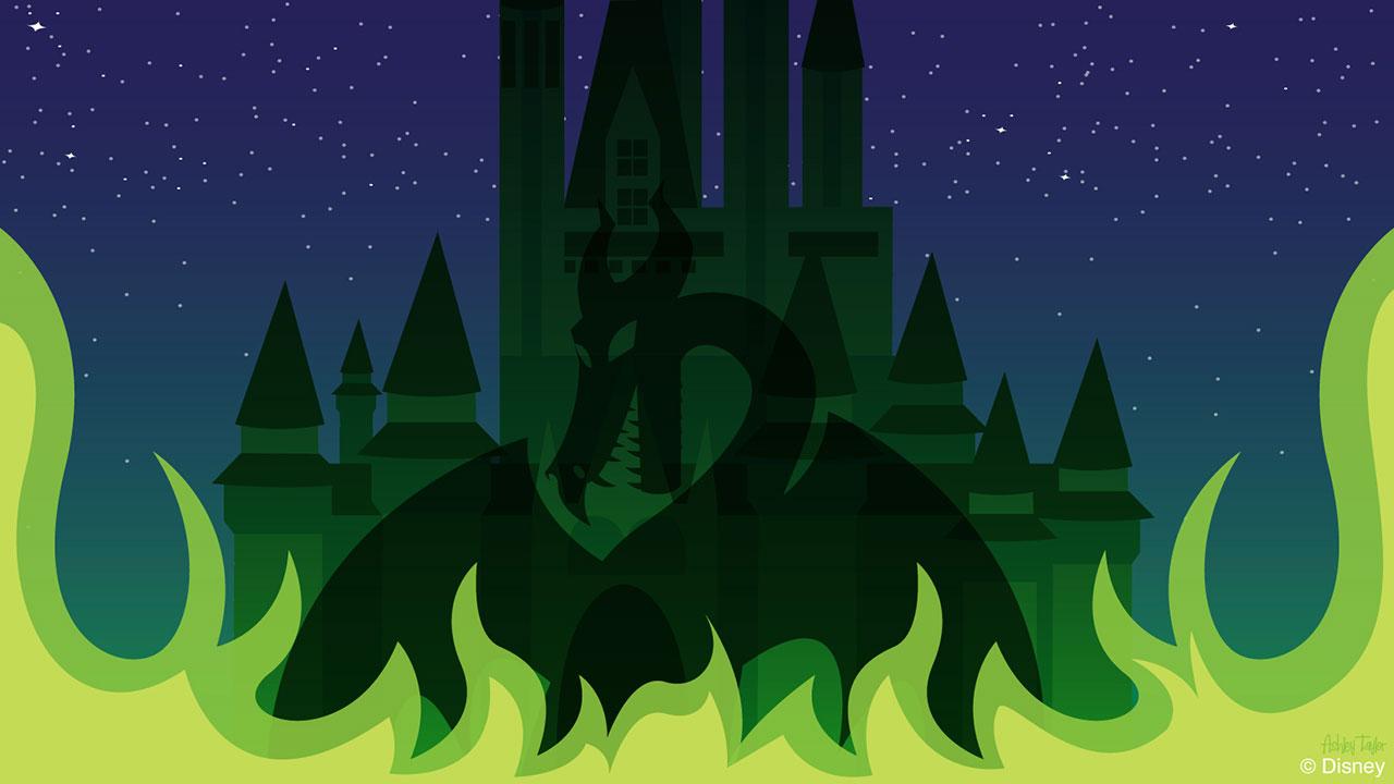 Disney Doodle: A Spooky Shadow at Cinderella Castle