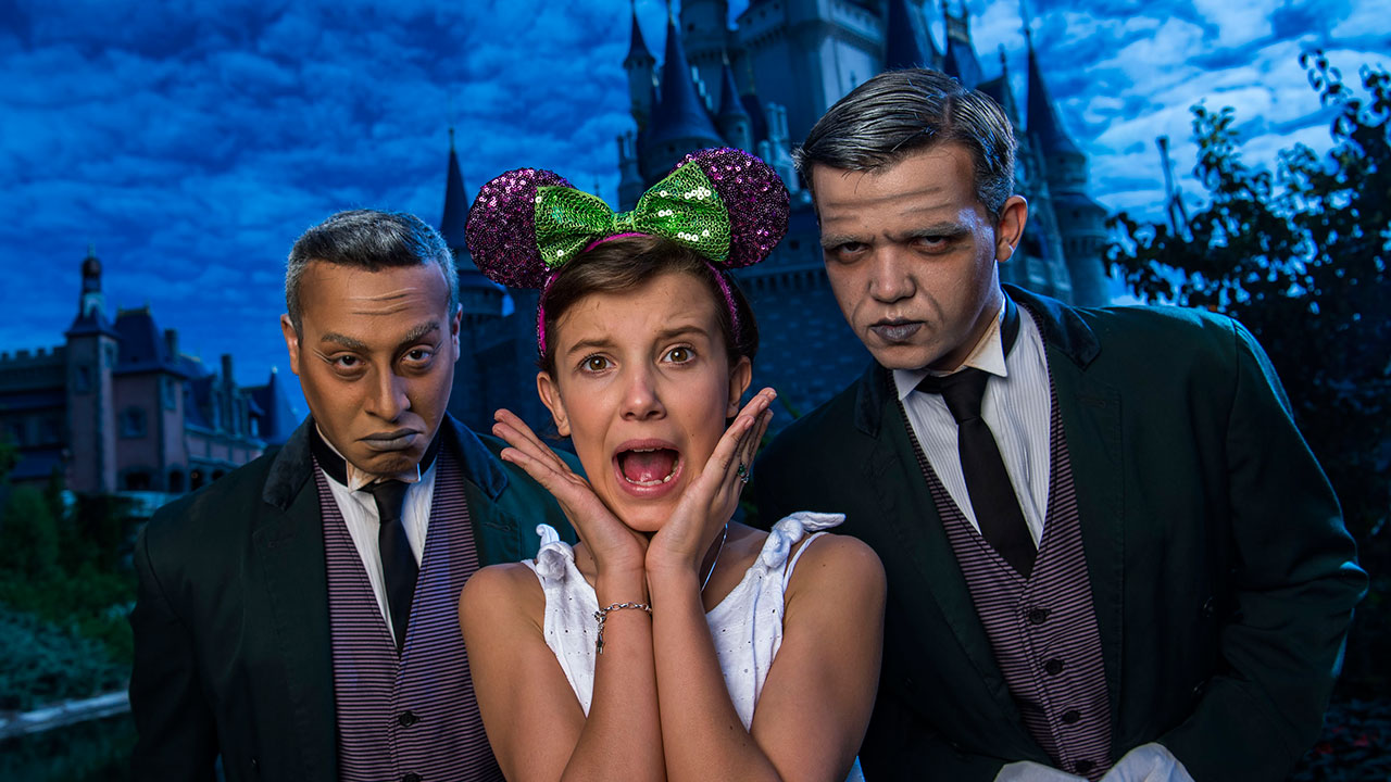 'Stranger Things' Millie Bobby Brown Visits Magic Kingdom Park