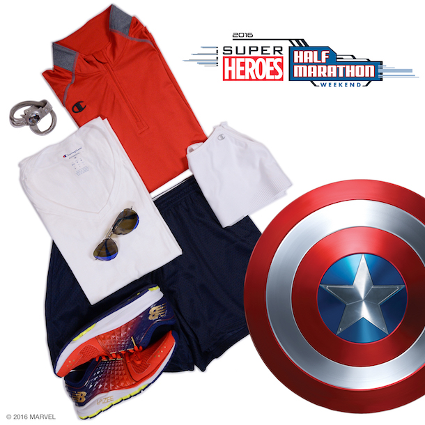 Captain America-Inspired Style for runDisney Super Heroes Half Marathon Weekend at Disneyland Resort