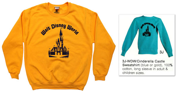 Cinderella Castle and Walt Disney World Logo Sweatshirt Coming to The YesterEars Collection