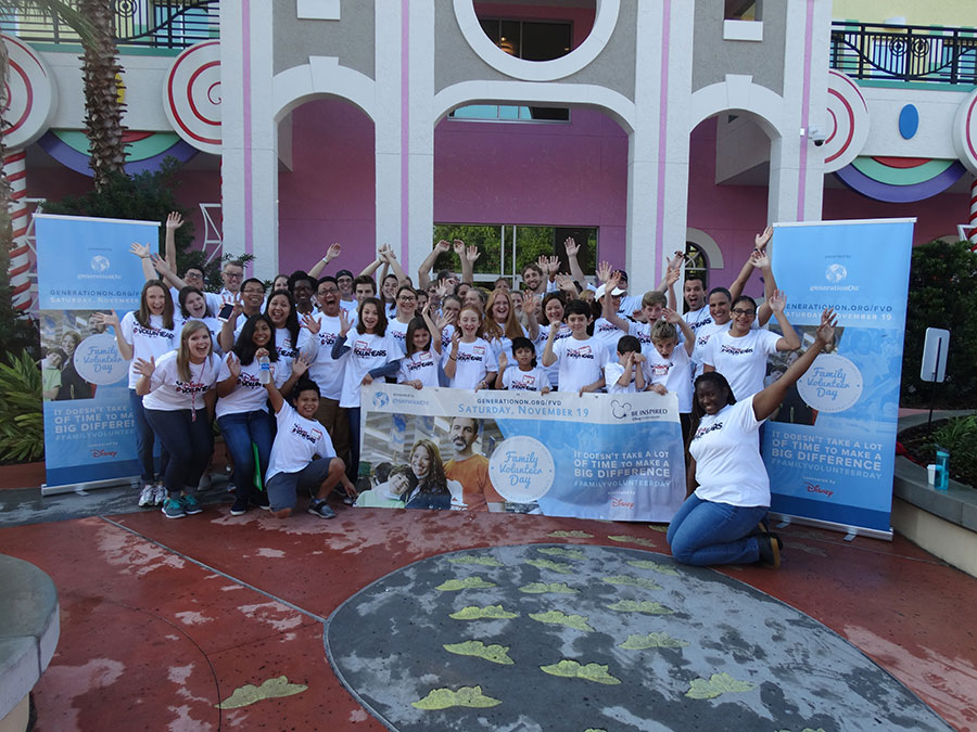 Disney Parks Give Back For Family Volunteer Day