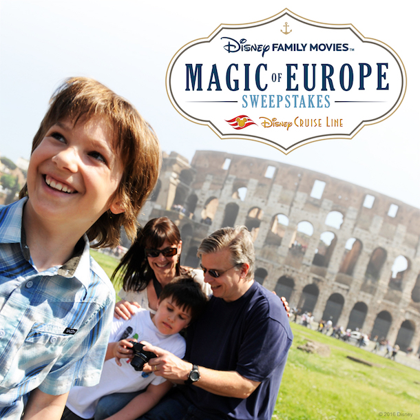 Enter The Disney Family Movies Magic of Europe Sweepstakes Now Through December 19