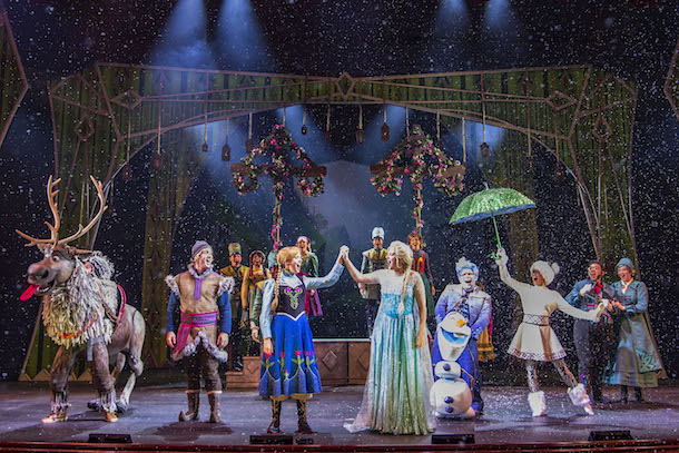 'Frozen, A Musical Spectacular' on the Disney Wonder