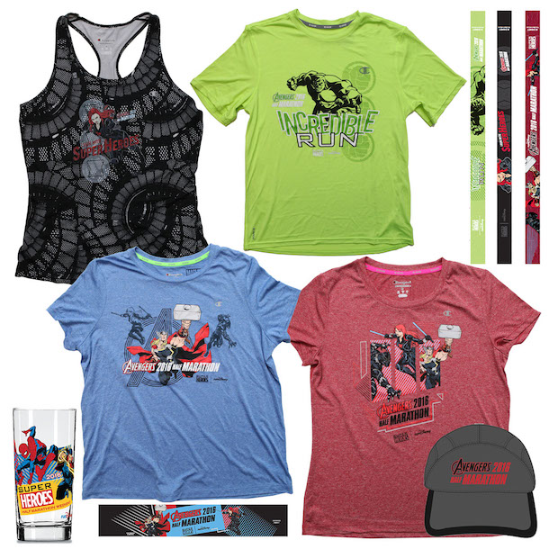 First Look at Merchandise for runDisney Super Heroes Half Marathon Weekend 2016 at the Disneyland Resort