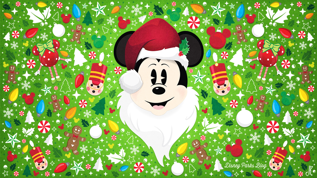 celebrate the season with our santa mickey wallpaper