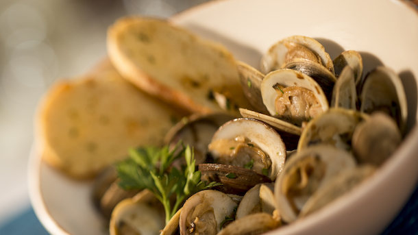 Clams from Wind and Waves Grill at Disney's Vero Beach Resort