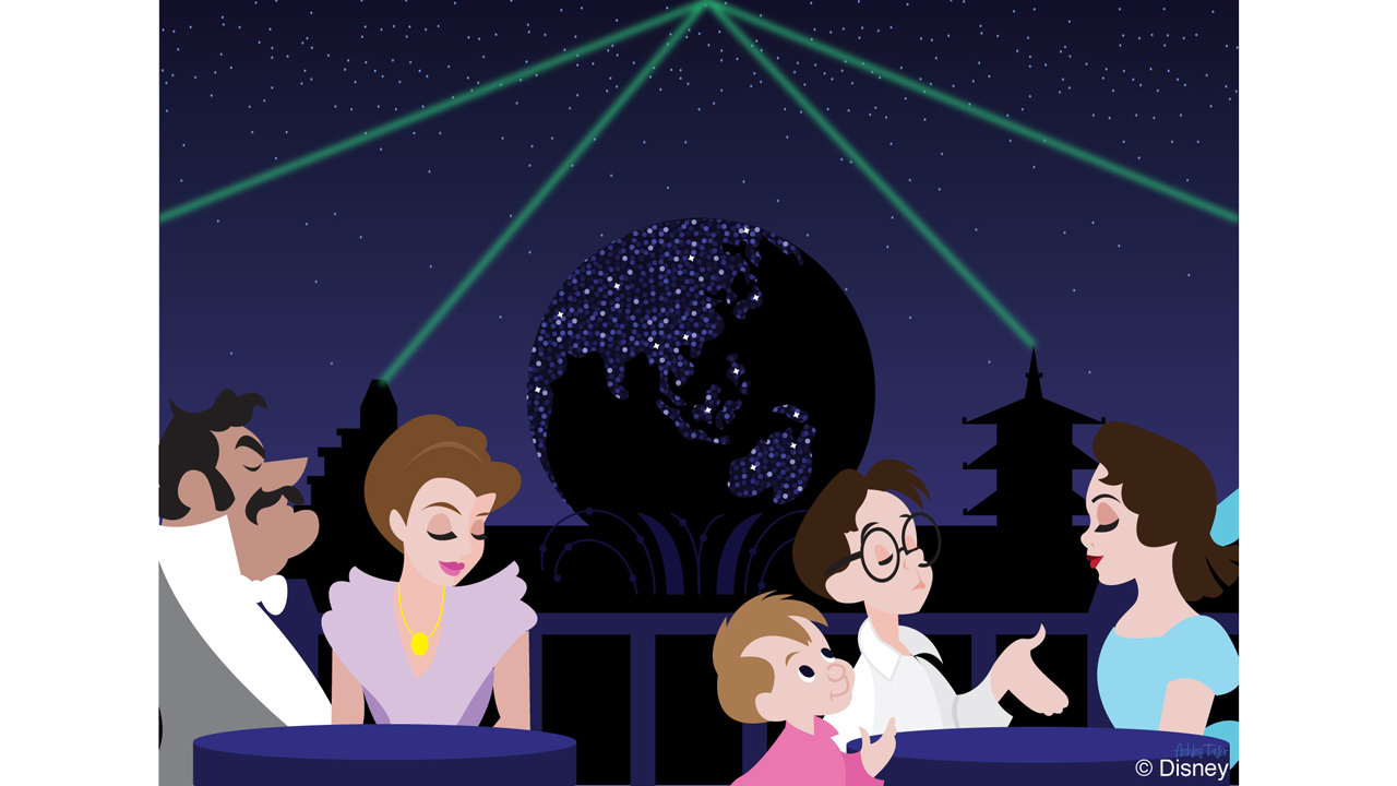 Disney Doodle The Darling Family Tests Out Rose Crown Dining Room