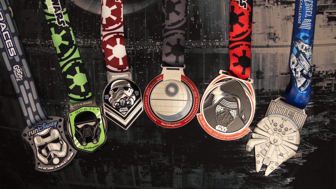 runDisney Star Wars Half Marathon – The Dark Side Medals