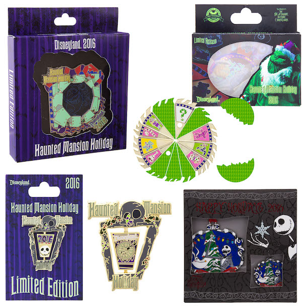 Haunted Mansion Holiday Pins from Disneyland Resort