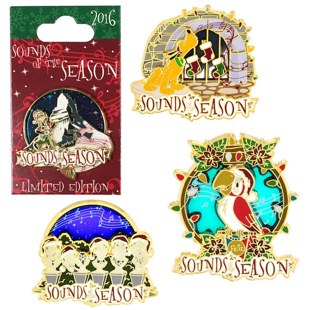 'Sounds of the Season' Pins from Disneyland Resort