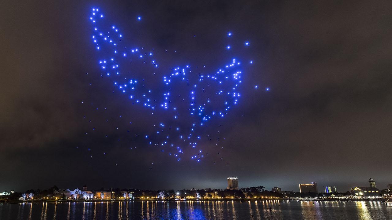 Show Drones Light Up Disney Springs