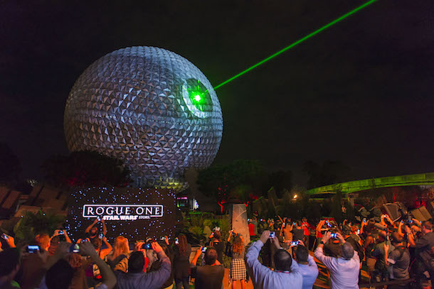 400 Disney Parks Blog Readers Celebrate Star Wars As Spaceship Earth Transforms Into Death Star