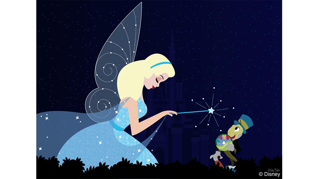 Disney Doodle The Blue Fairy Passes Out Pins Disney