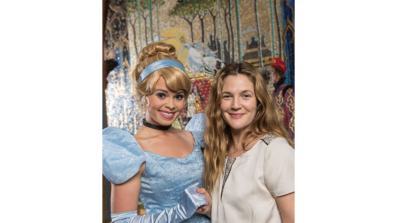 Drew Barrymore Has A Fairytale Visit at Magic Kingdom Park