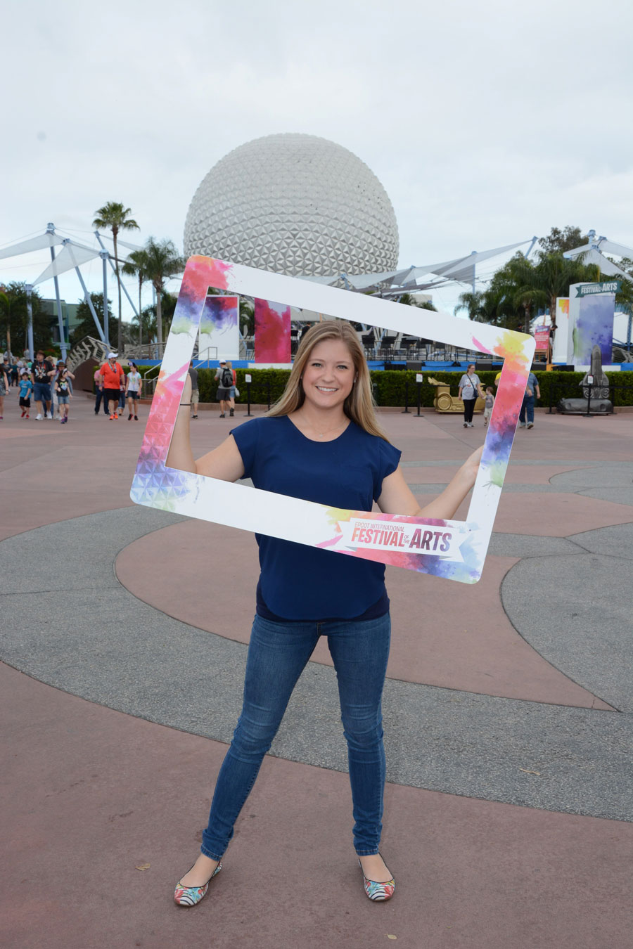 Enjoy a palette of special photo opportunities during the Epcot International Festival of the Arts