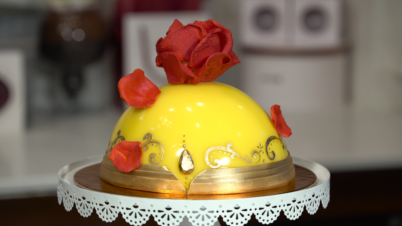 Enchanted Rose Cake Inspired By Beauty And The Beast