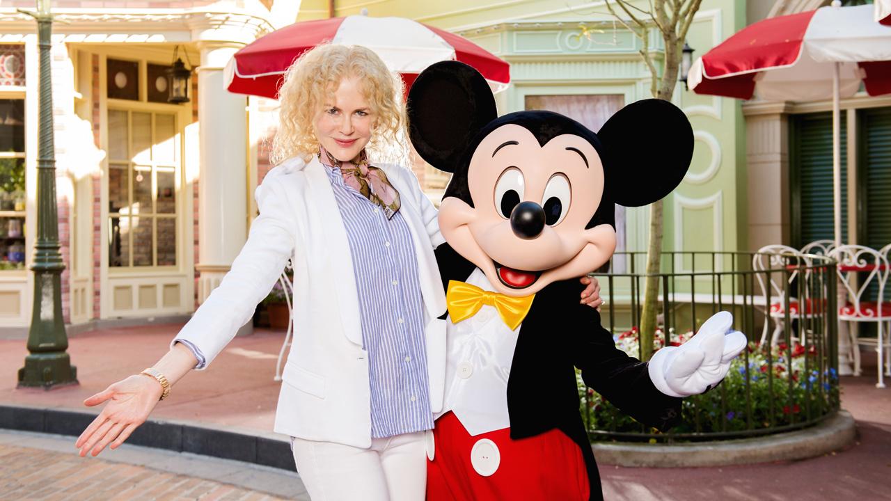 Actress Nicole Kidman Meets Mickey Mouse at Walt Disney World Resort
