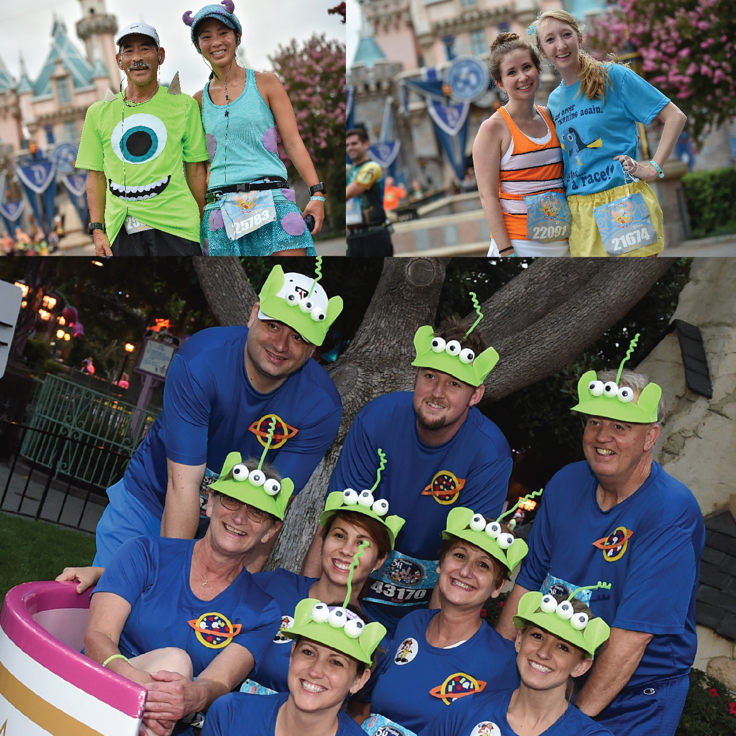 runDisney Half Marathon weekend Pixar themed. Monsters University Costumes, Up! Costumes.