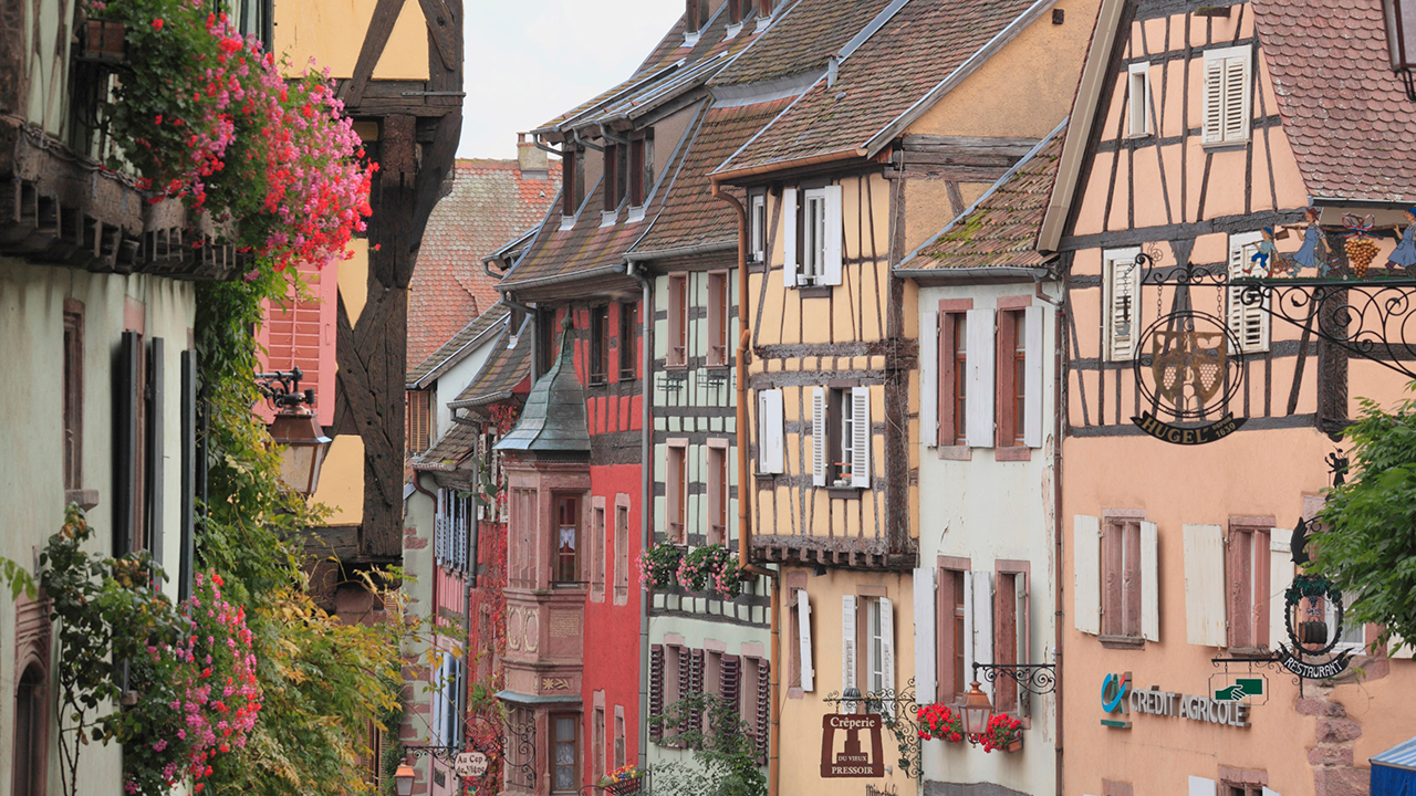 Tour Riquewihr, France as part of Beauty and the Beast themed river cruise activities