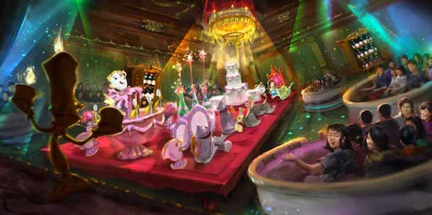 Beast's Castle in a new 'Beauty and the Beast' themed area coming to Tokyo Disneyland