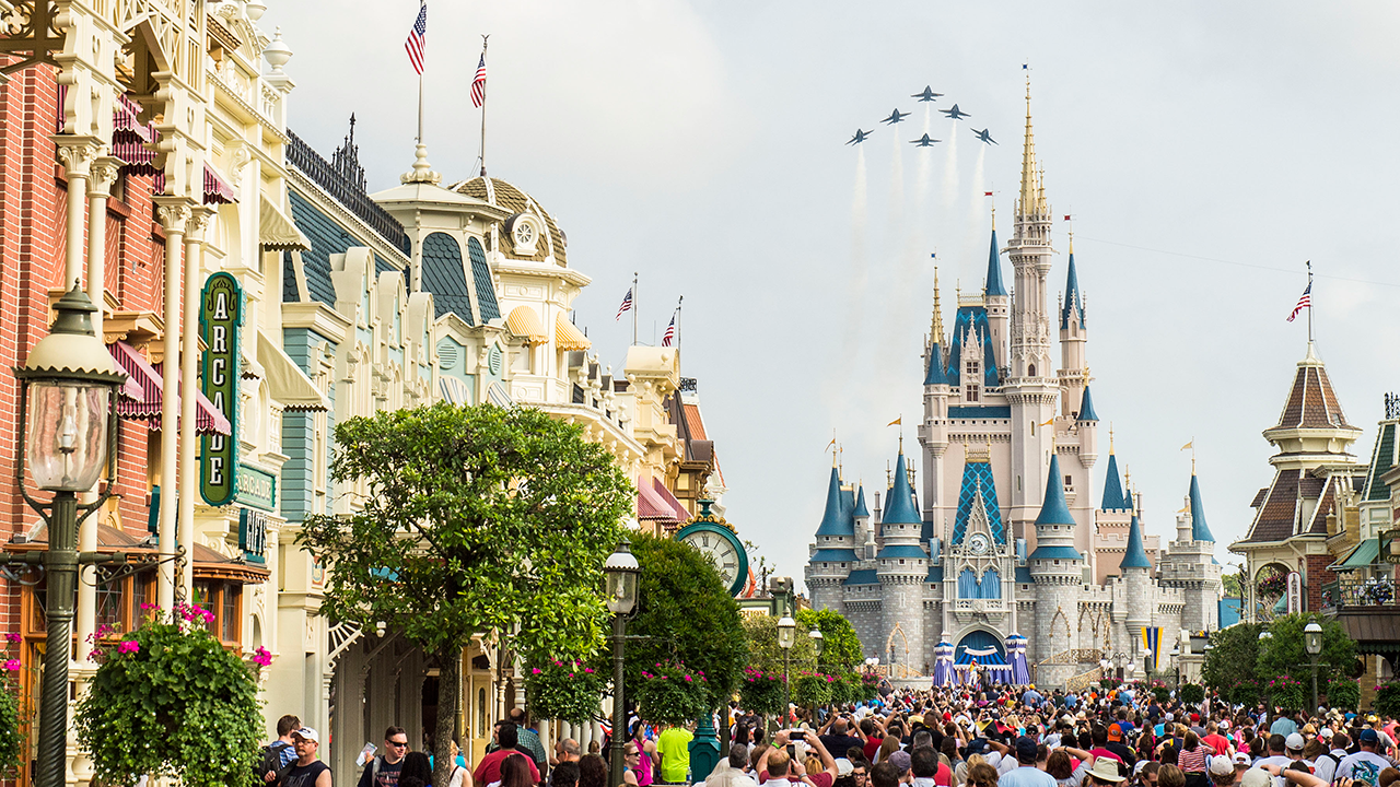 U s navy blue angels to fly over magic kingdom park at the walt disney world resort