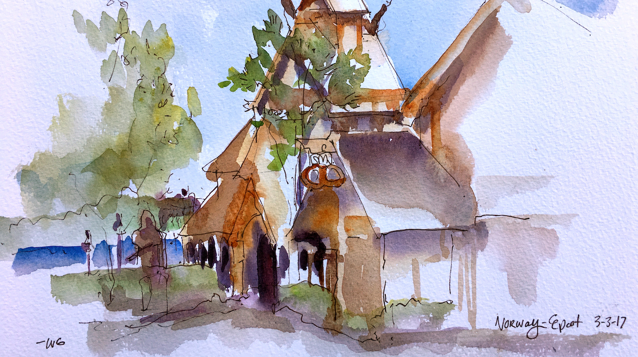 Sketches From The Park: Plein Air In The Norway Pavilion